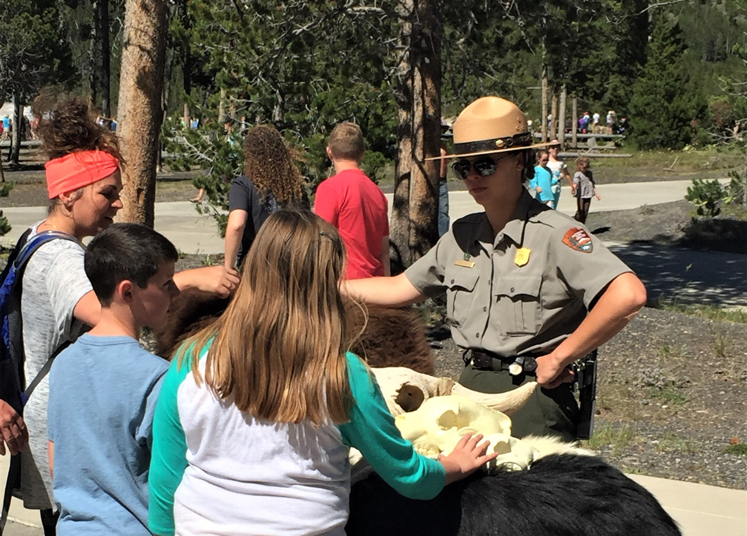 Ranger Talk at Old Faithful