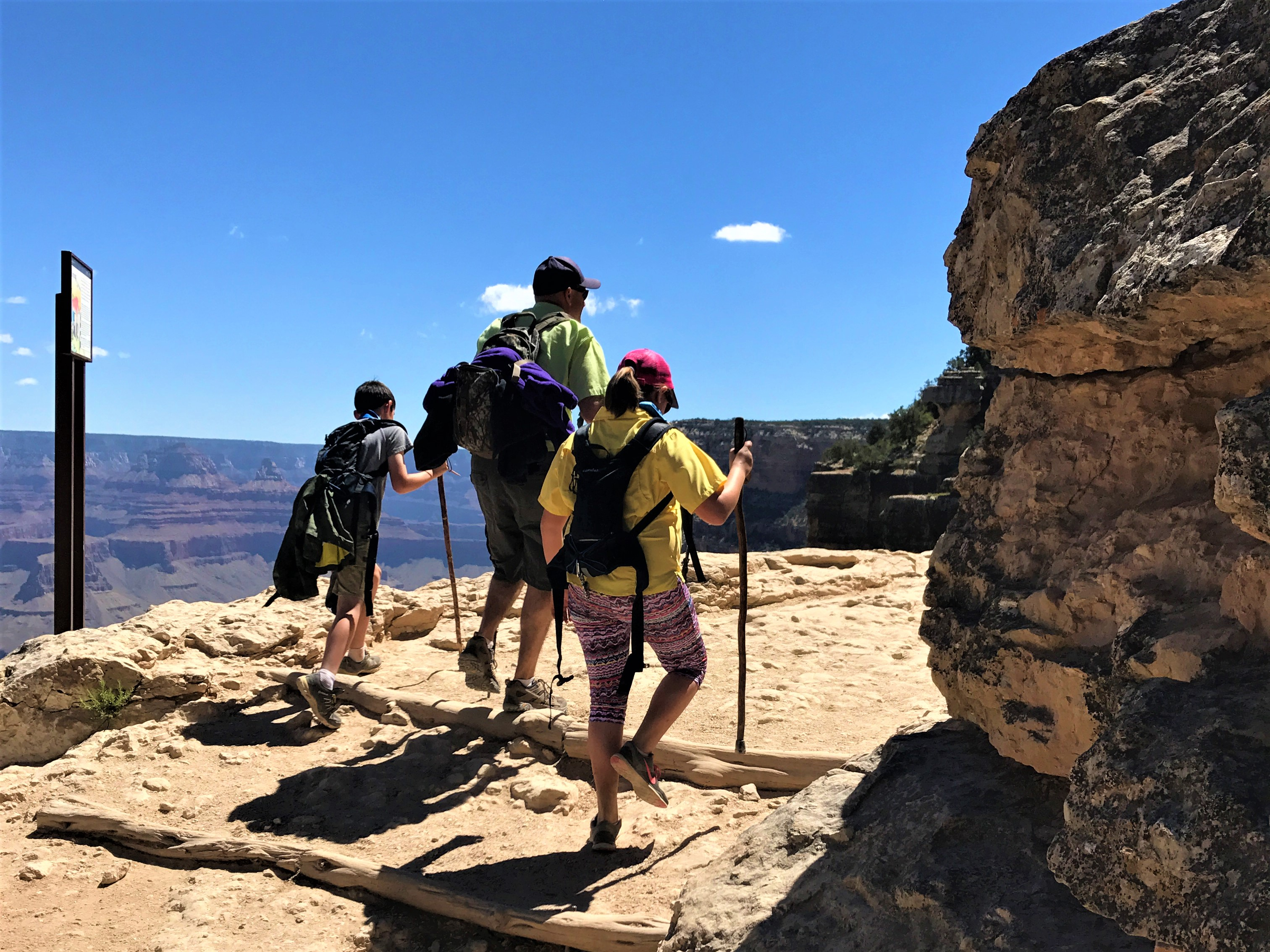 Hiking Bright Angel Trail